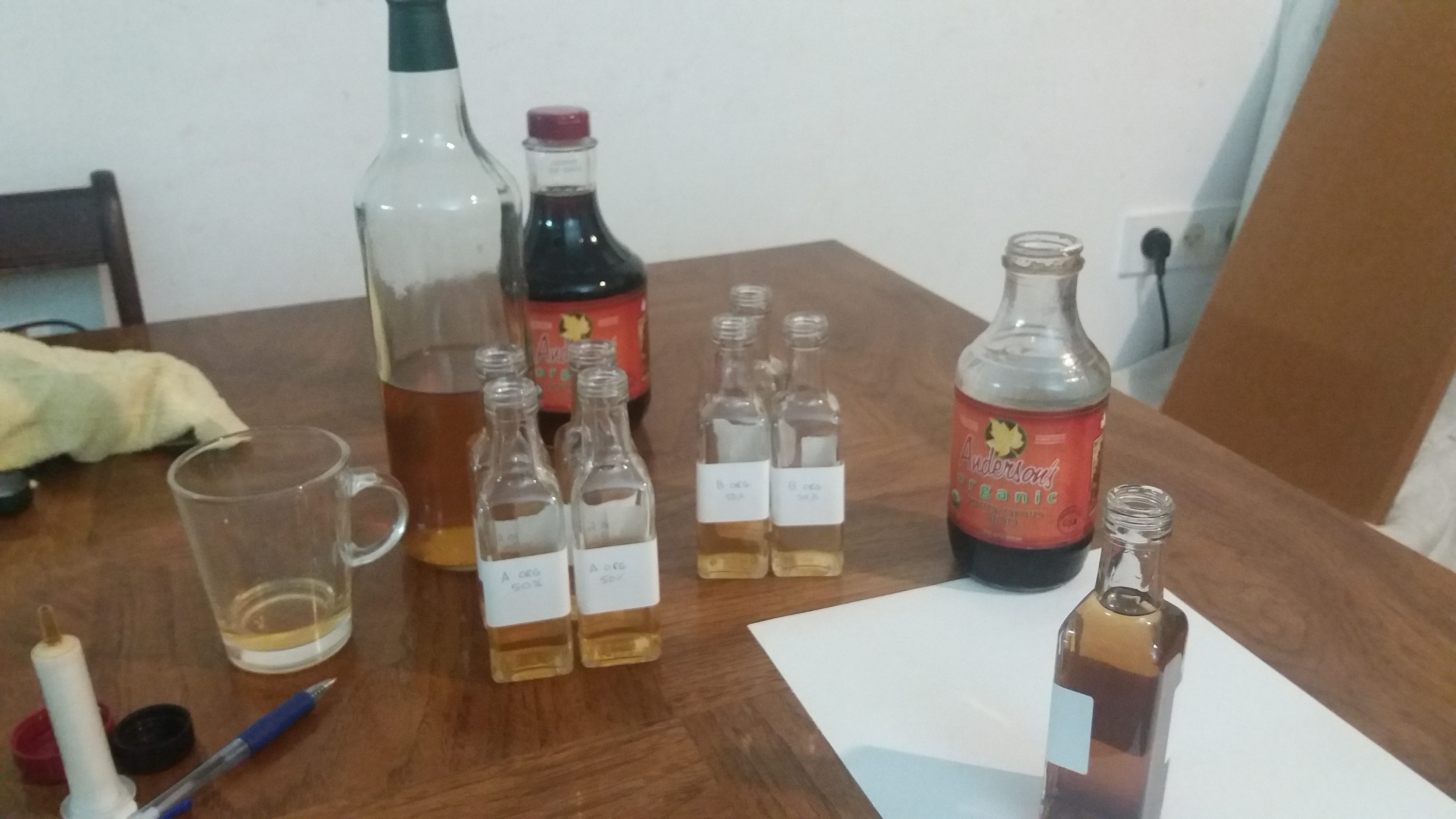 Maple Whiskey and Maple Liqueur