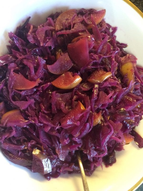 Braised Cabbage & Apples with Maple Syrup