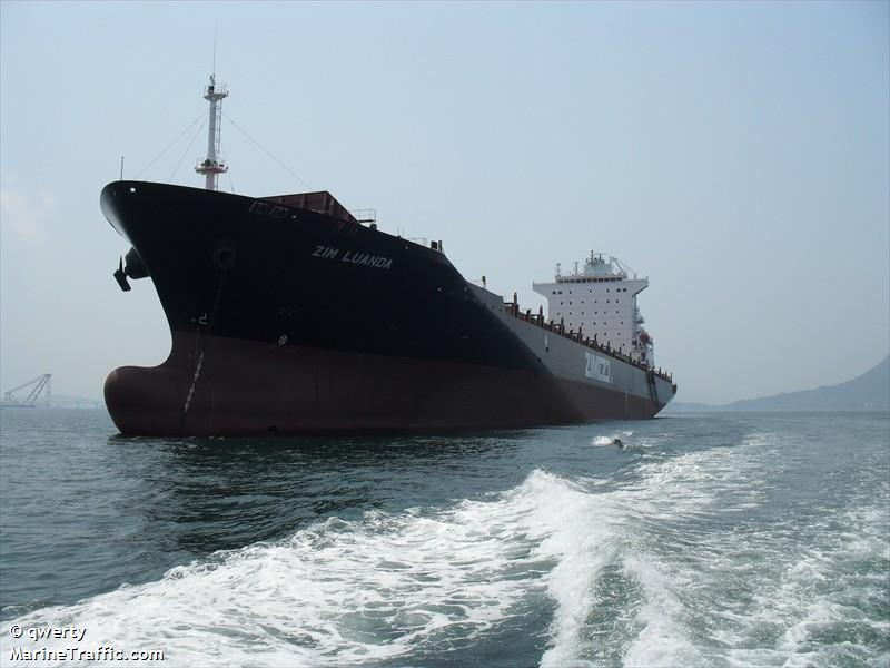 The Zim Luanda- a 40,000 ton freighter that is carrying our maple syrup to Israel